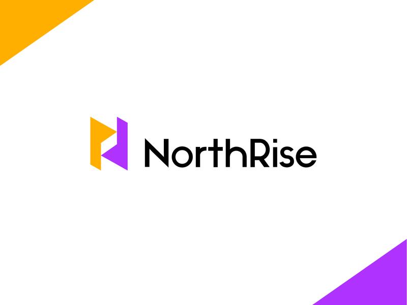 NorthRise abstract logo n letter logo n logo logomarks logos lettermark negative space north branding monogram university university logo nr logo nr