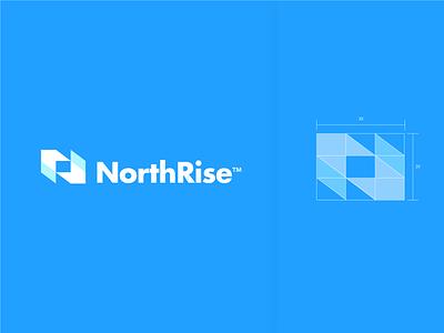 NorthRise logodesign nr nr logo symbol logomarks logo letterforms branding logo design monogram abstract logo construction grid logo grid