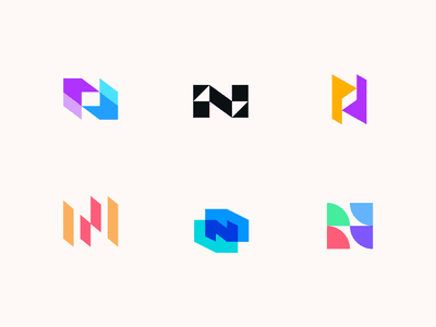 Northrise letterforms lettermark app logo negative space letter university logo simple logo overlay abstract logo letter n logo n logo letter n logomarks monogram branding