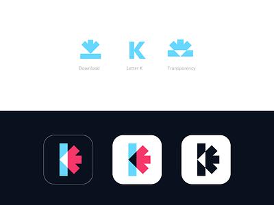 Kinio professional logo logo design app logo k letter k letter logo k logo tech company logo designer negative space monogram minimalistic minimal luxury gradient logo transparency letterforms branding