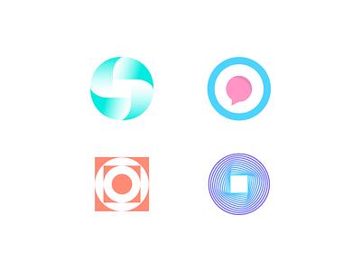 observer exploration brand monogram simplicity negative space abstract logo gradient logo minimalistic luxury brand luxury logo chat app app logo minimal branding o letter logo o letter o logo