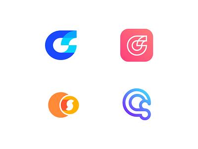 CS Logos exploration logos logo design abstract logo letterforms s logo monogram transparency overlay minimal minimalist logo luxury branding app logo c logo cs logo cs