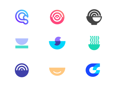 Creative Soup app logo letterforms logomarks transparency cs logo monogram minimal logo luxury logofolio logo collection logo design branding design good creative smile soup