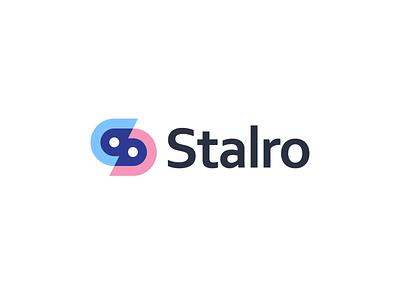 Stalro s letter abstract logo logo designer typogaphy technology logo technology tech logo network connect logomarks monogram branding logo design minimal transparency s logo design s logo