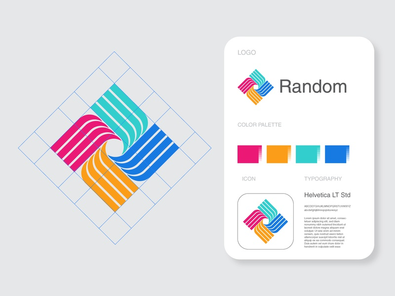 Random Identity brandbook brand manual guideline brandguide colors logo tutorial logo for sale bank logo trend logo design logos logomarks brand symbol trademark logomark logo branding identity monogram
