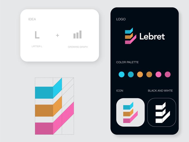 Lebret - Logo bank logo lettering logomarks typography lettermark minimal l logo letterforms symbol marketing marketing logo brand mark logos logo branding identity monogram managment