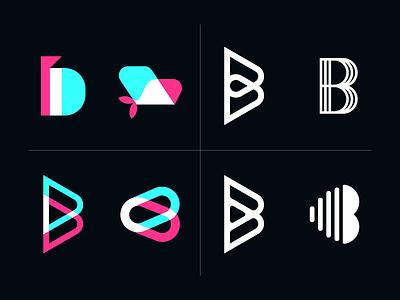 B Logo exploration - Betsy logo exploration logomarks lettering letterforms lettermark logos identity monogram b branding b logo b exploration