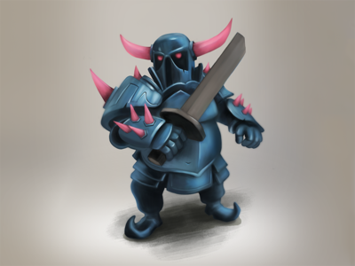 p.e.k.k.a. character design clash royale armor clash sword knight spikes evil character pekka supercell