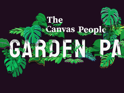 Party Plants blackandwhite outline electric greenery party poster people illustration leaves gardening indie rock rock indie people canvas party garden