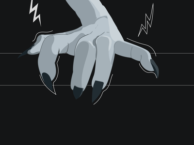 Something Wicked This Way Comes grab shading scary sharp horror lightning gray nails wicked spooky dark illustraton hand