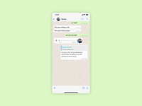 Scheduled messages on WhatsApp - Concept