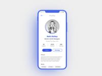 Daily UI 006 - User Profile Minimal UI