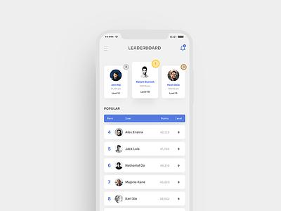Daily UI 019 - Leaderboard UI winner ios app top leaderboard dailychallenge dailyui