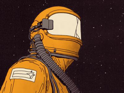 Fiasco pilot suit man stars sky rock music cd art cover illustration space