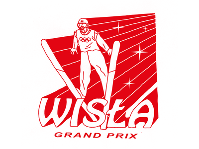 SKOKI design typography winner hero flight champion sport jump ski tee tshirt illustration