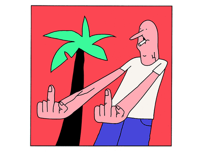 Something's Wrong middle insult crap silly twin finger tree palm right hand left wrong