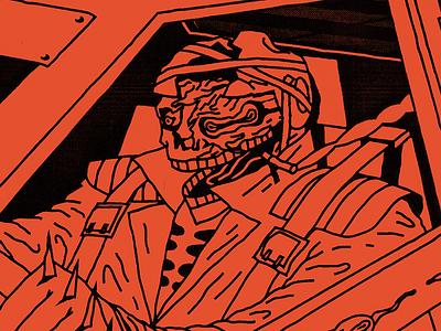 VHSHELL/MONDO BIZARRO illustration poster lettering letters font color demon devil ghost hit kill brutal