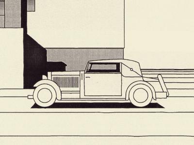 Bauhaus dessau print anniversary label modernism bauhaus building car letters typography poster illustration