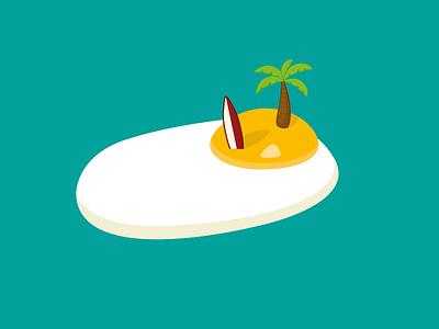 Eggs Island egg eggs island flat illustration surf ile illustrator