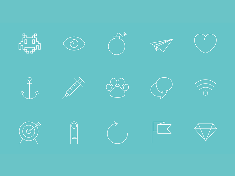 Axoline : 150 line vector icons for designers  vector icon set picto pictogramme icone freebie download télécharger line ios7