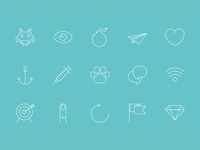 Axoline : 150 line vector icons for designers