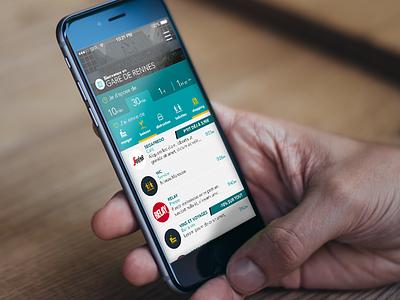 UI mobile app - Gares & Connexions - SNCF app gare train design mobile ui