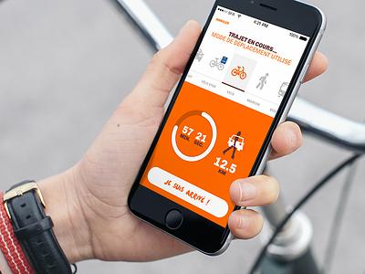 Mobilacteurs design app slider swipe tracking timer mobile ui ios