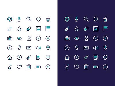 BIGÜ - Icon Set set illustrator freebie ui flat free bicolor vector icon