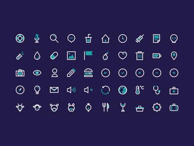 BIGÜ icon set - Rebound set illustrator freebie ui flat free bicolor vector icon