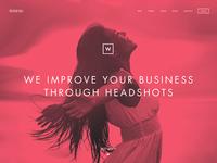 headshot homepage