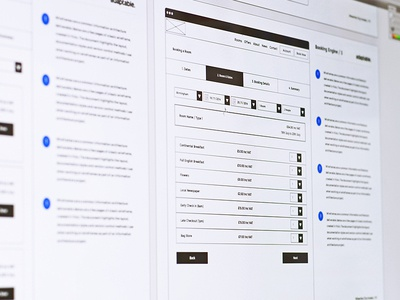 Hotel Website UX ux user experience sitemap wireframe hotel