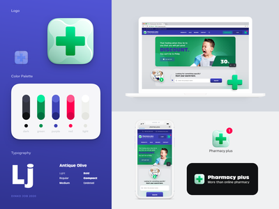 Online pharmacy branding user experience user interface logo client work company visual identity branding