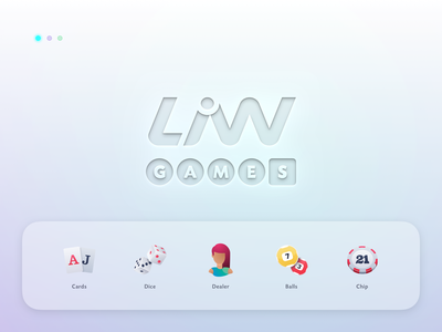 LiW Games Icon Pack new logo client work brand identity illustraion vector minimalistic game shading flat illustration icon set lottery casino table games chip cards neumorphism