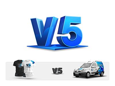 V5 Projekt Branding Card agency branding 3d web design illustration brand designer brand identity company logo branding client work