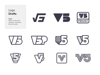 V5 Projekt Logo Drafts web development ui illustration design brand designer agency branding brand identity company logo branding client work