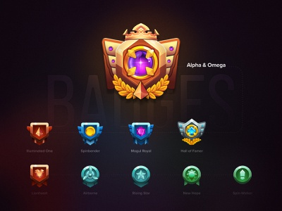 Rank System Badge Series crypto badge gamification game loyalty program ranking system rank icon 3d graphic design illustration client work