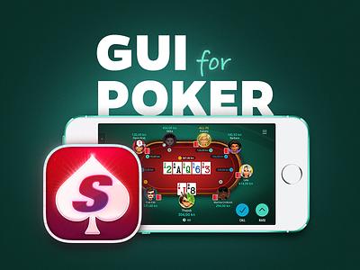 GUI for Poker sit  go tournaments lobby logo amblem cards app icon avatars chips app desktop mobile icon ux ui poker