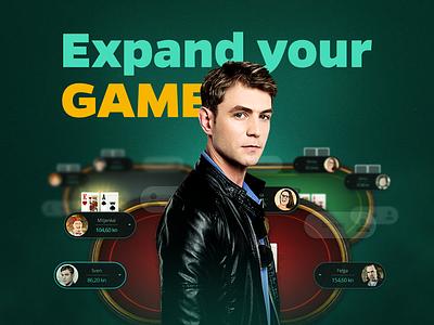 Poker Multitable cards ui poker table typeface bold retouch model