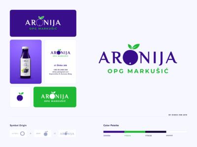 Aronia logo design − O letter logo concept