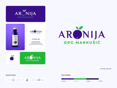 Aronia logo design − O letter logo concept modern logo logotipo logotype logo mark logo designer letter o simple logo digital marketing company client work client business card business branding card branding brand identity brand designer agency branding app logo app icon