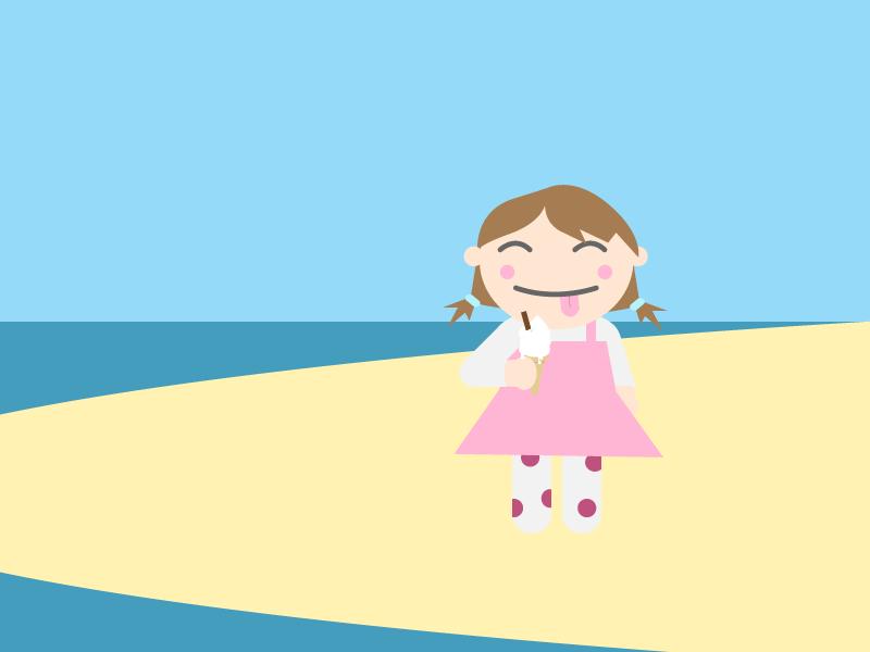 Ice Cream girl illustration girl ice cream