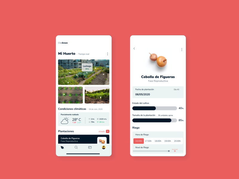 City Green - App Design management food garden harvest ui ux design figma uidesign