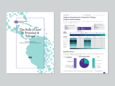 Rule of Law in Trinidad and Tobago justice world social design graphic visualization data data viz map print publication cover