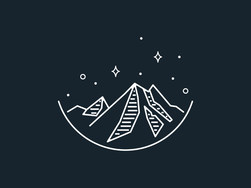 Mount Rainier sticker badge stars mountain national park sustainability graphic geometric design vector illustration