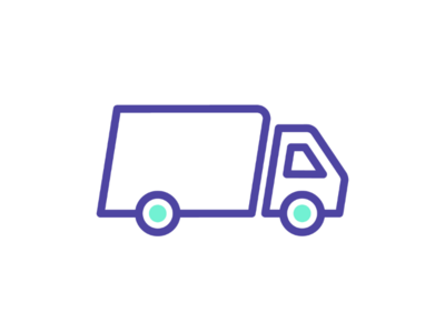 One if by land illustration line freight trandport logistics truck graphic design vector iconography icon