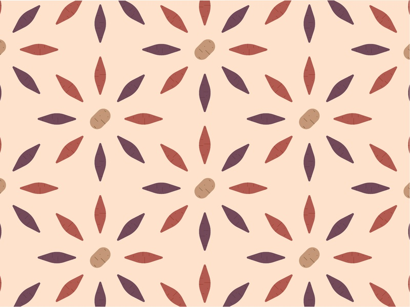 Sweet (Potato) Dreams Are Made of These potato vegetable sustainability vector sustainable illustration geometric