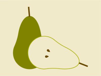 What a Pear We Make fruit vector washington green produce pear illo illustration