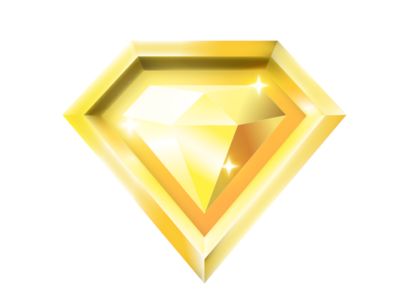 golden diamond badge