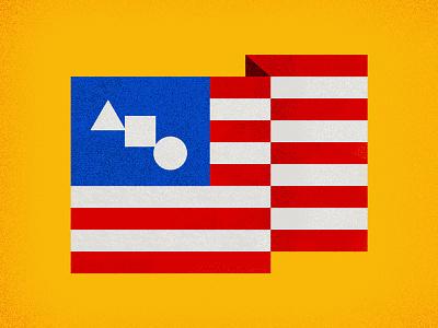 United Shapes of America flag bauhaus usa
