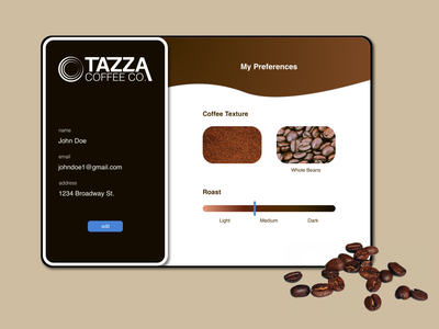Daily UI - Profile profile page coffee design uiux uidesign dailyui